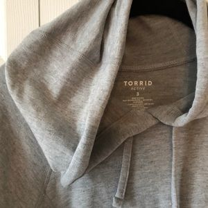 Cute Grey workout hoodie from Torrid size 3